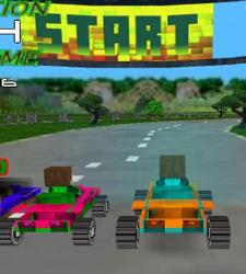 Minecraft 3D Car Racing